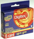 mini-CD-R DIGITEX 24x Inkjet Printable /10/ - визитка