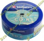 CD-R 80 VERBATIM 52x Extra Protection Spindle 25