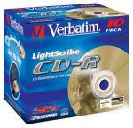 CD-R 80 VERBATIM 52x AZO Light Scribe Jewel