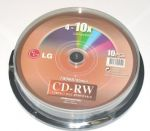 CD-RW 80 LG 4-10x High Speed Cake 10