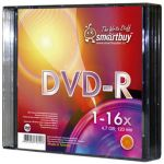 DVD-R SMARTBUY 16x 4.7Gb Slim /по 5 шт./