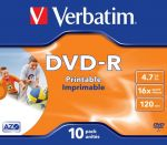 DVD-R VERBATIM 16x 4,7Gb Printable Jewel